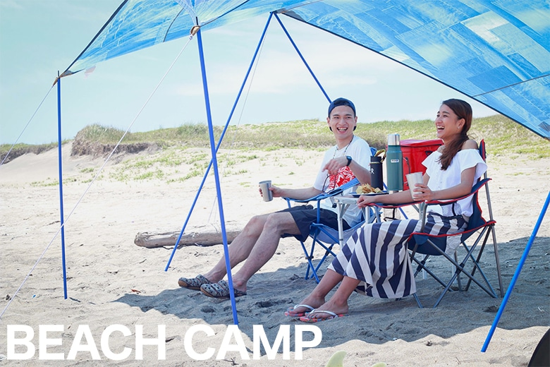 CAMP IN BEACH