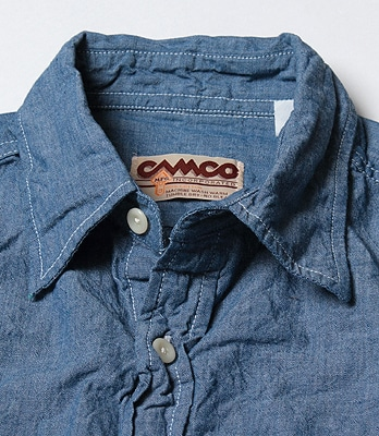 Camco Chambray Work Shirt: Classic Blue
