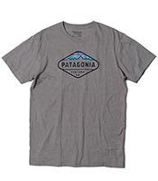 PATAGONIA Fitz Roy Crest Cotton/Poly T-Shirt 2017SS