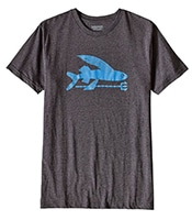 PATAGONIA Flying Fish Cotton/Poly T-Shirt BKRB
