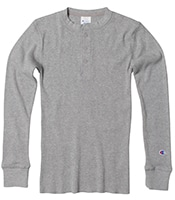 Waffle Henley Neck L/S T-Shirt