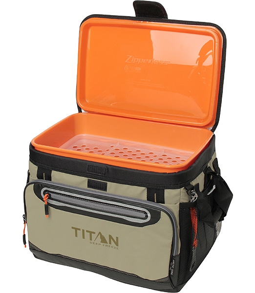 ARCTIC ZONE 30 Can Titan Deep Freeze Zipperless Cooler