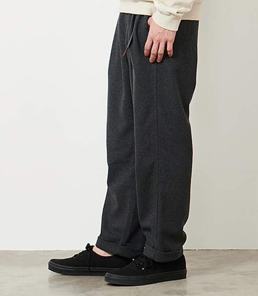 GRAMICCI Wool Blend Tuck Tapered Pants