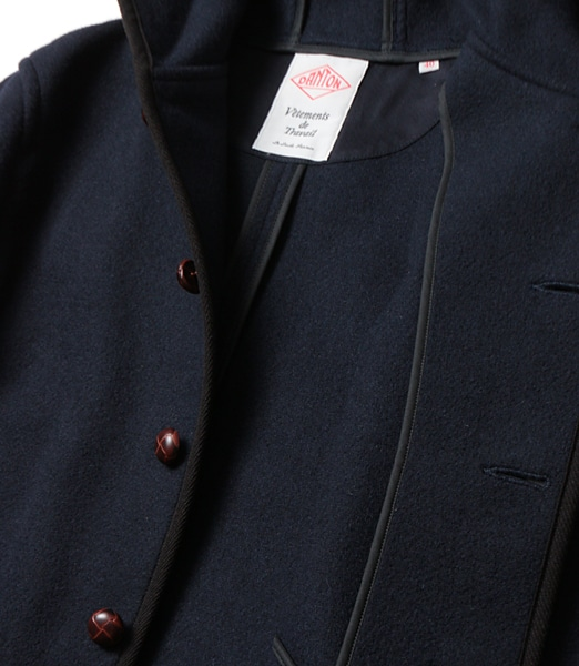 DANTON Wool Mosser Hood Single Jacket