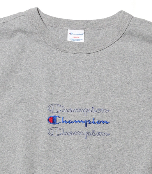 CHAMPION Center Embroidery ScriptLogo S/S Tee 【OSHMAN'S別注】 2020SS