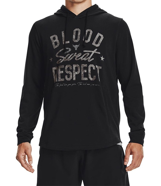 UNDER ARMOUR Project Rock Terry Blood Sweat Respect Hoodie
