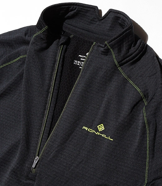 RONHILL Stride Matrix 1/2 Zip Tee 2019FW