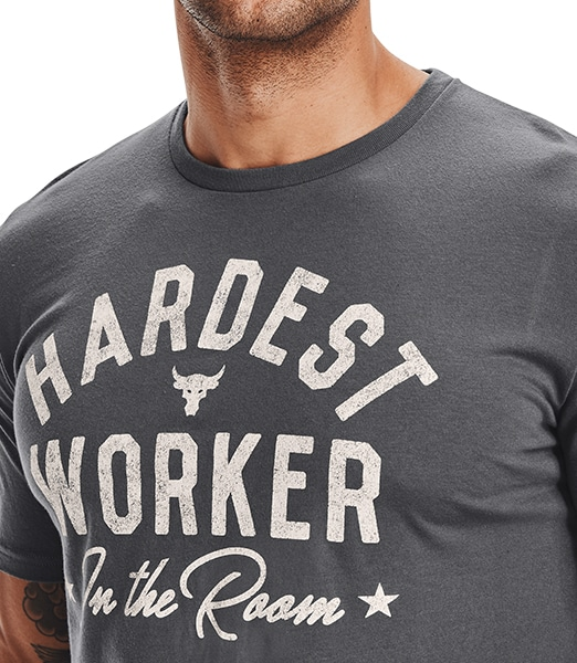 UNDER ARMOUR Project Rock Hard Worker Short Sleeve