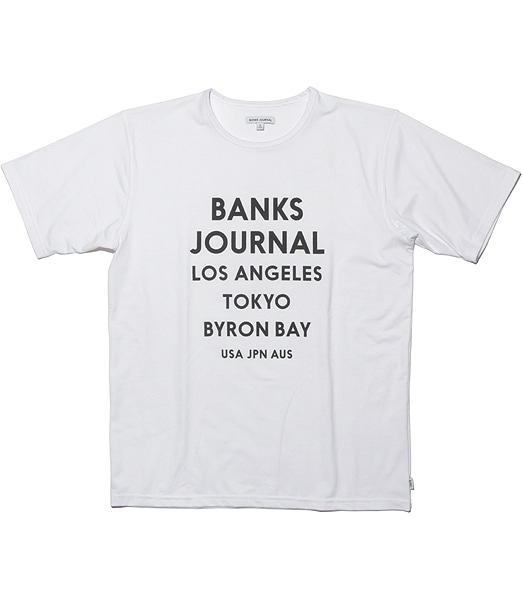 BANKS Travel Logo Surf Tee 【OSHMAN'S別注】 2020SS
