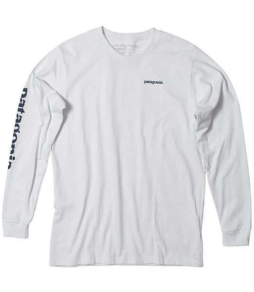 PATAGONIA Long Sleeved Text Logo Responsibili-tee 2019FW