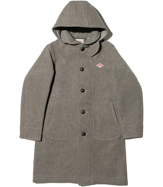 DANTON Wool Mosser Hood Single Coat