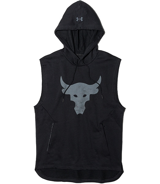 UNDER ARMOUR Project Rock  Charged Cotton Sleeveless Hoodie 1357181