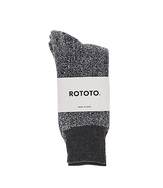 "ROTOTO Double Face Crew Socks ""Silk&Cotton"""