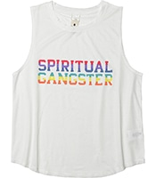 SPIRITUAL GANGSTER SGV Rainbow Active Muscle Tank
